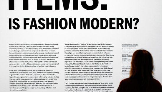 """""""Items: is fashion modern?"""" La mostra che racconta la moda di intere generazioni"""