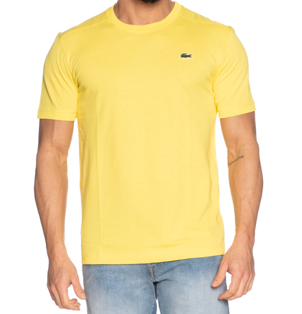t shirt basic lacoste yellow