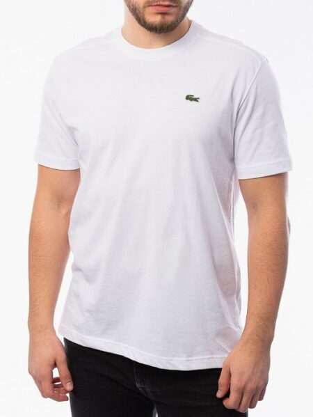 t shirt basic lacoste white