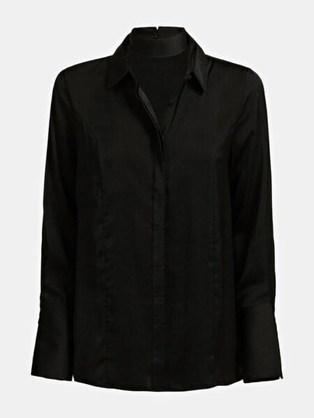 Camicia da donna GUess in raso nero