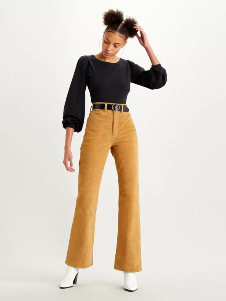 Levi's Ribcage bootcut in velluto