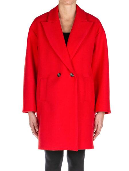 cappotto kaos a uovo rosso