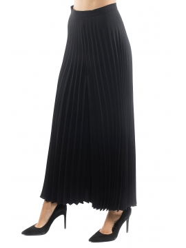 pantalone emme marella nero plissetato