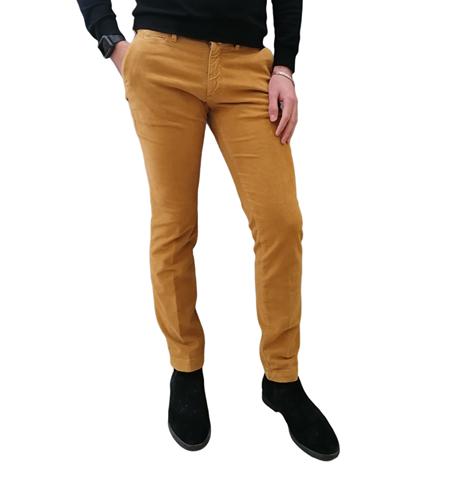 pantalone four ten senape uomo