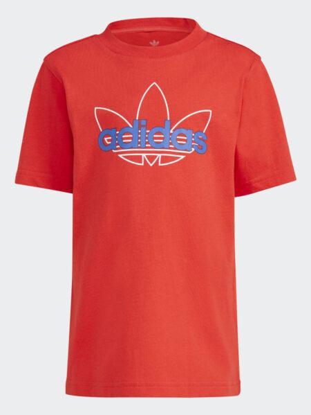 t-shirt adidas bambino rosso