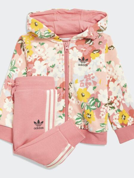 tuta adidas baby floreale