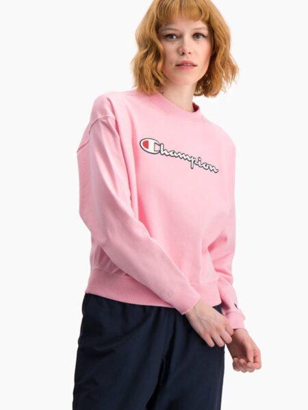 felpa girocollo rosa champion