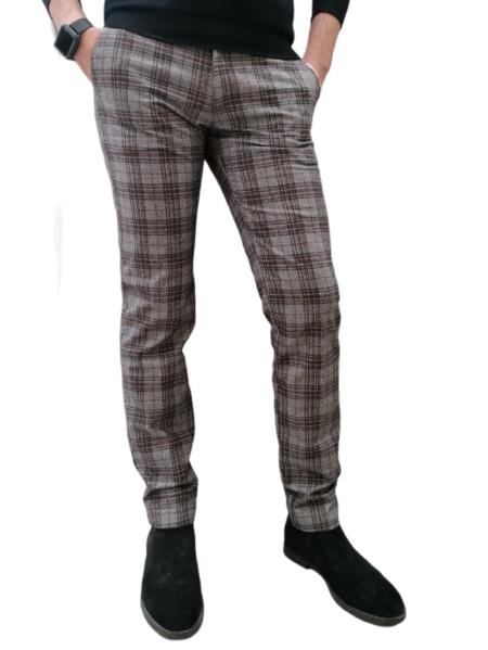 pantalone uomo quadri
