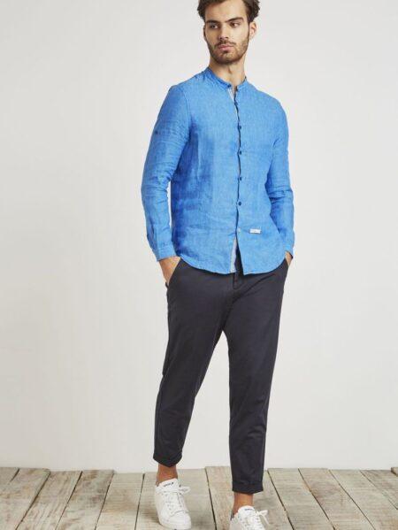 pantalone carrot blu mark up