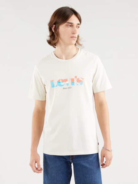 t-shirt levi's uomo bianco sporco
