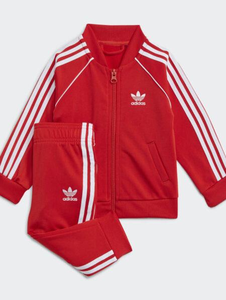 tuta adidas originals rossa baby