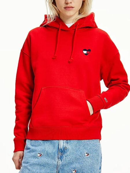 felpa tommy jeans rosso