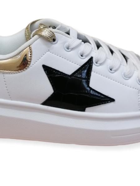 scarpe shop art bianco nero laminato oro