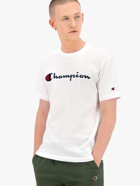 t-shirt champion girocollo bianco