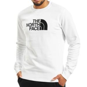 felpa girocollo bianca the north face