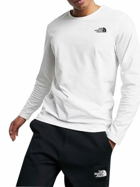t-shirt the north face manica lunga